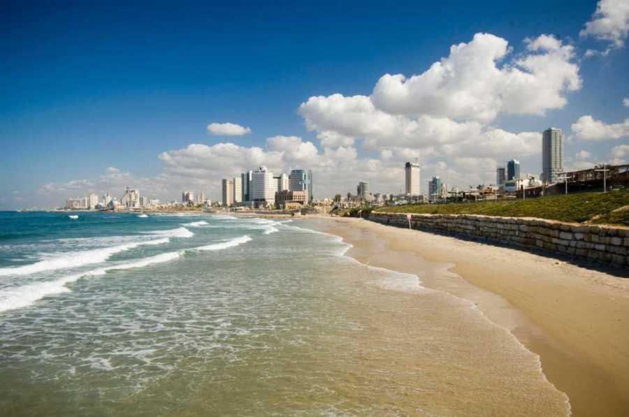 A beach near the NYU Tel Aviv campus. (via NYU)