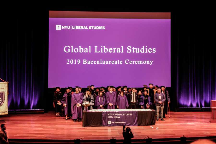 The Liberal Studies commencement ceremony took place in the Skirball Center for Performing Arts on Tuesday. (Photo by Yasmin Gulec)