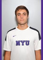 CAS Sophomore Christian Otero is a member of NYU men's tennis team. (via NYU Athletics)