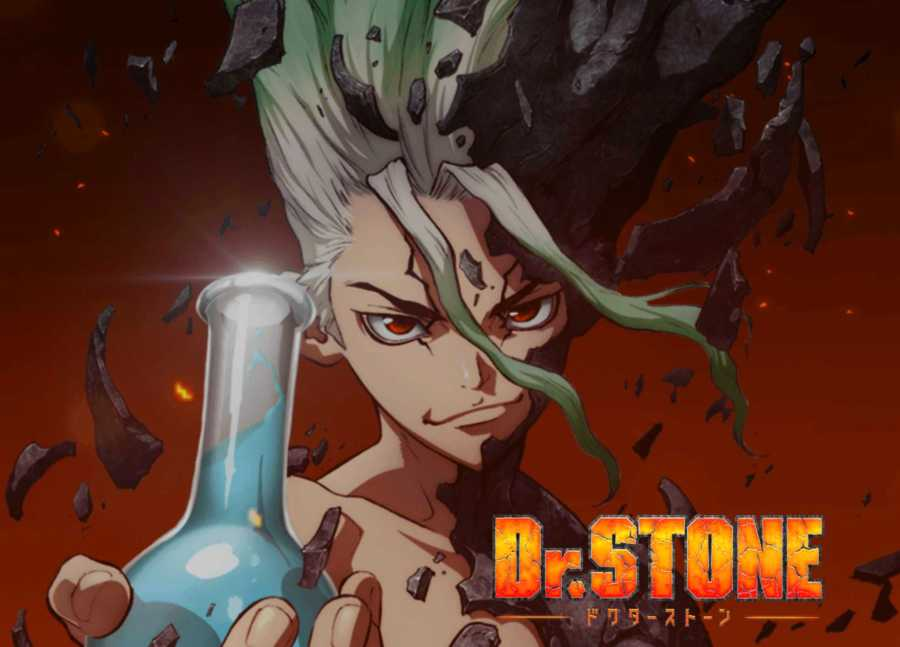 Senku is the main character of Dr. Stone, a dystopian anime exploring the capabilities of civilization. (Staff illustration by Marva Shi)