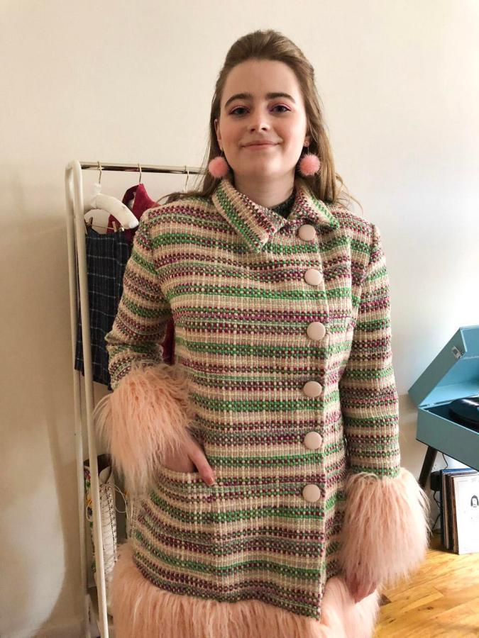 "Gallatin sophomore Elizabeth ""Elle"" Plummer  debuts her fashion line, Mods in America. (Photo by Chad Evans)"