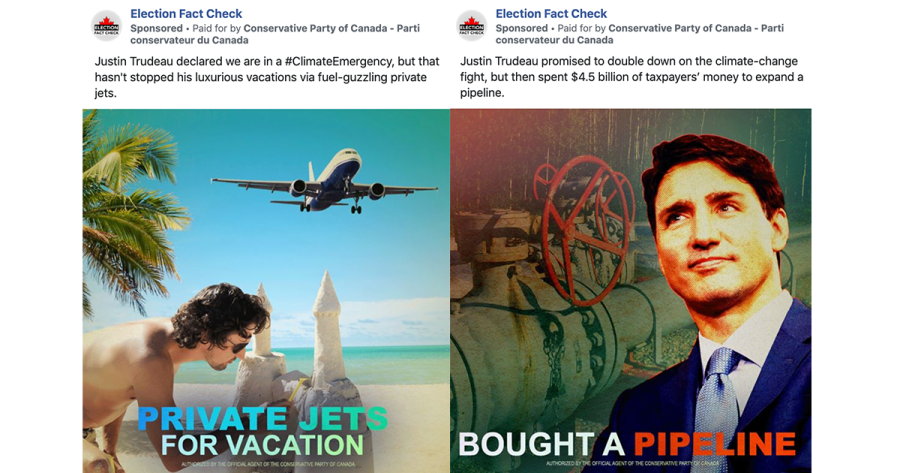 Researchers at Tandon have found Facebook pages that claim to be fact-checking sites are actually promoting highly partisan advertisements. (Via Facebook)