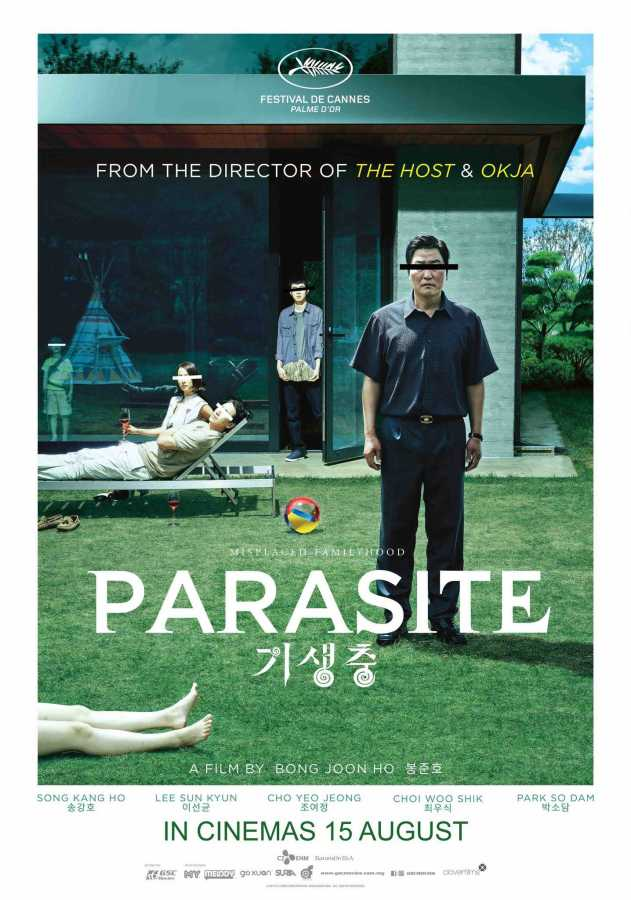 Parasite is a Korean movie that was released in the U.S. on October 11, 2019.  (Via Twitter)