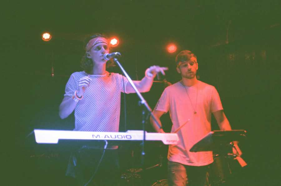 Noams and Trafton at Pride Fest in 2019. They performed a remix of Trafton's song Hyperreal. (Photo Courtesy of Alena Spalenska)