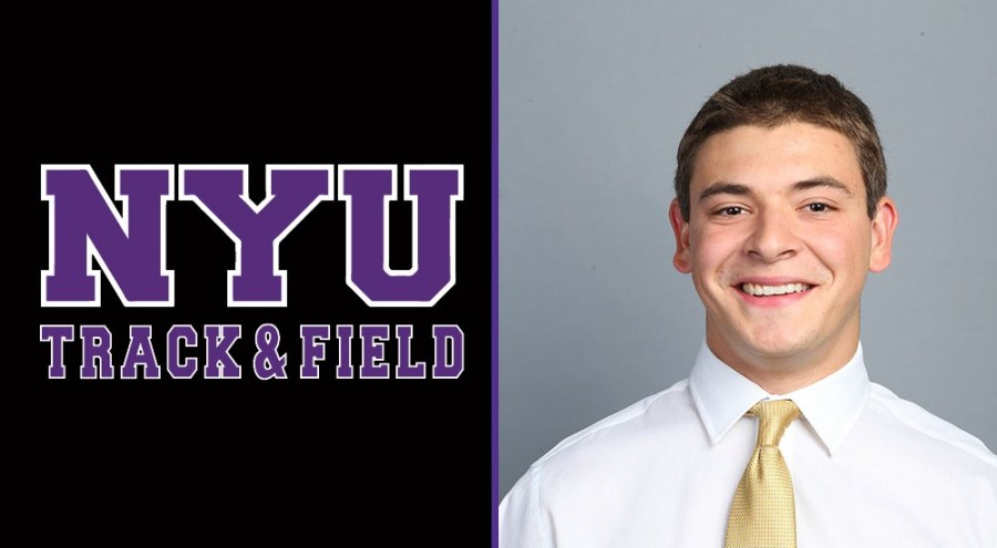 Christopher Sandoli will be joining NYU's Track and Field team as an assistant coach for the team's pole vaulters. (Via NYU Athletics)