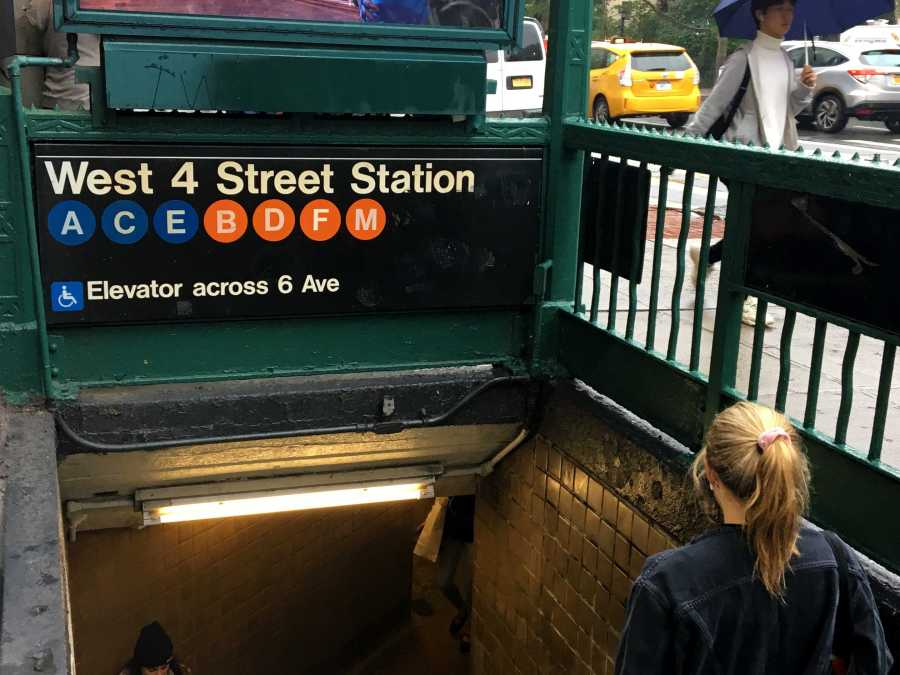The entrance to West 4 Street Station, a subway stop near campus. (Photo by Talia Barton)