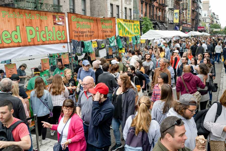 The Pickle Day Festival is an annual event that takes place in the Lower East Side celebrating all things pickle. (Photo by Tomer Keysar)