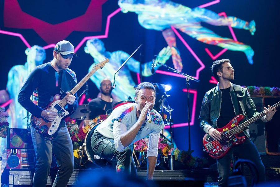 Coldplay performing at Global Citizen Festival in Hamberg, Germany. The group recently released new music, from slow (via Wikimedia)