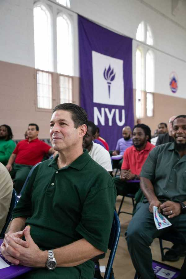 John Harnage, an inmate at Wallkill Correctional Facility, attends NYU's Prison Education Program graduation on Oct. 29. (Courtesy of NYU Photo Bureau)