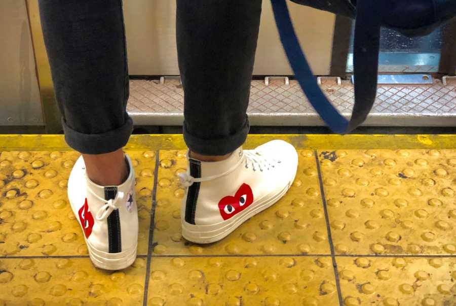 The simplistic design of Comme des Garçons Converse was a great trend four years ago. (Staff Photo by Jorene He)