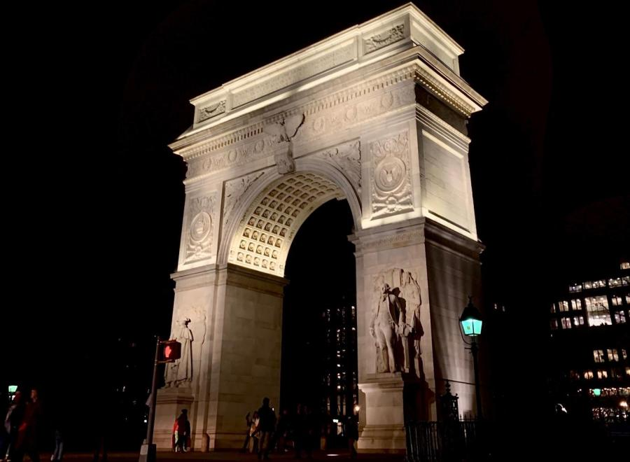 The famous Washington Square Park arch is a must-see sight on NYU's no-wall campus. Not walking under it has also been the one tradition the university shares for years. (Staff photo by Jake Capriotti)