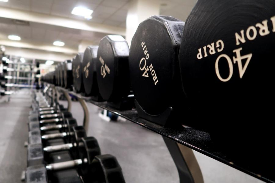 The Palladium Athletic Facility also offers a wide array of gym equipment for fitness enthusiasts. Though the sport can be time-consuming, bodybuilders have found NYU facilities useful for weightlifting. (Staff Photo by Chelsea Li)