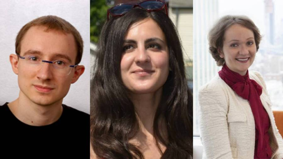 Anna Choromanska, Daniele Panozzo and Christine Constantinople received the Alfred P. Sloan award this year. (Staff illustration by Chelsea Li)