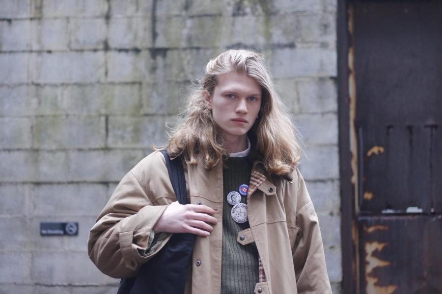 Finlay Mangan is a freshman from CAS. His career just happened to start with modeling for Gucci's 2020 Autumn Winter Menswear runway show at Milan Fashion Week. (Staff photo by Alex Tran)