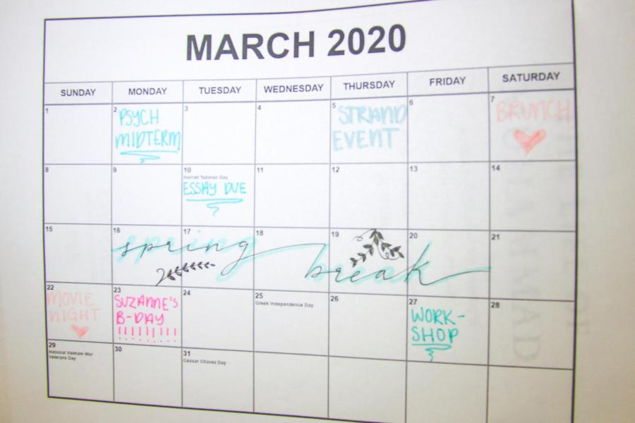 Students are looking forward to spring break, which is just two weeks away. Spring break planning can often get pushed aside as students worry about midterms and essays, but sometimes it is worth putting effort into a little preparation. (Staff Photo by Alexandra Chan)
