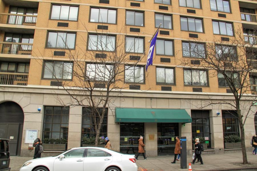 Carlyle Court is an NYU residence hall on 15th St and Union Square West. Carlyle and Third North are two dorm halls that will be turned over to assist in the COVID-19 health crisis. (Staff Photo by Alexandra Chan)