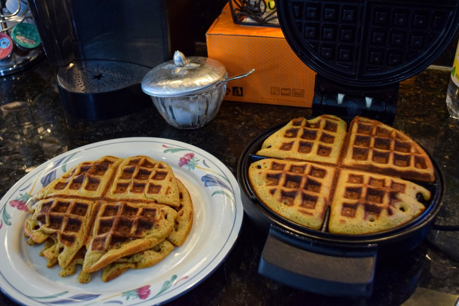 This waffle recipe comes from TikTok-er Joshua Weissman (@flakeysalt). Despite its simplicity and straightforwardness, the instruction might lead to a soggy result without additional skills. (Photo by Sabrina Choudhary)