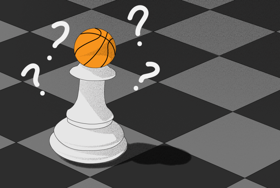 A sport where people have seemingly forsaken creative play for optimal play is chess, after Deep Blue chess engine first defeated the chess world champion Grandmaster Garry Kasparov in 1996. Similarly, NBA audiences have raised concerns that sports are becoming increasingly homogenized as teams across sports push for an optimal style of play. (Staff Illustration by Deborah Alalade)