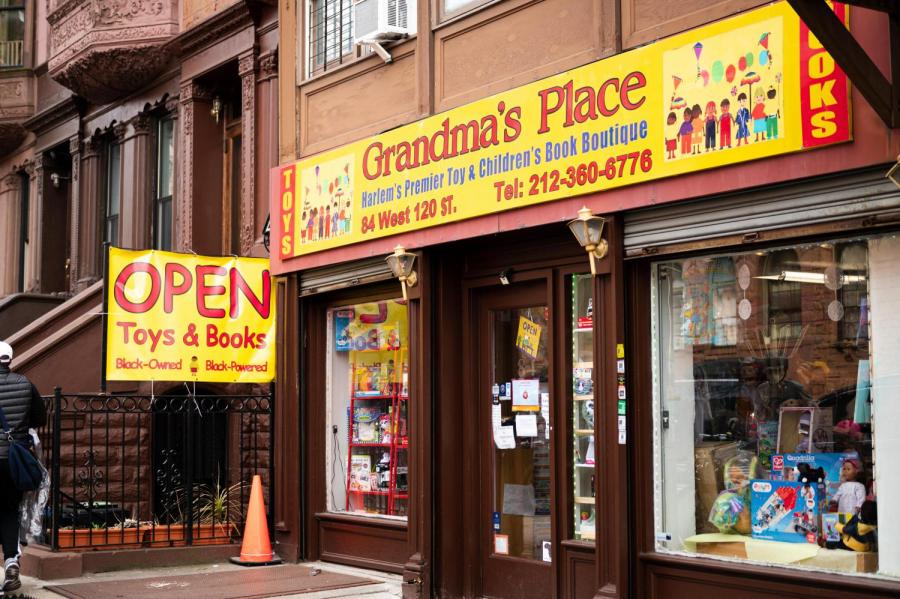 Grandma's Place, located on 84 West 120th Street in Harlem, is a children's toy and bookstore. Founded by Dawn Crosby Harris-Martine, Grandma's Place has served the Harlem community since 1999. (Staff Photo by Jake Capriotti)