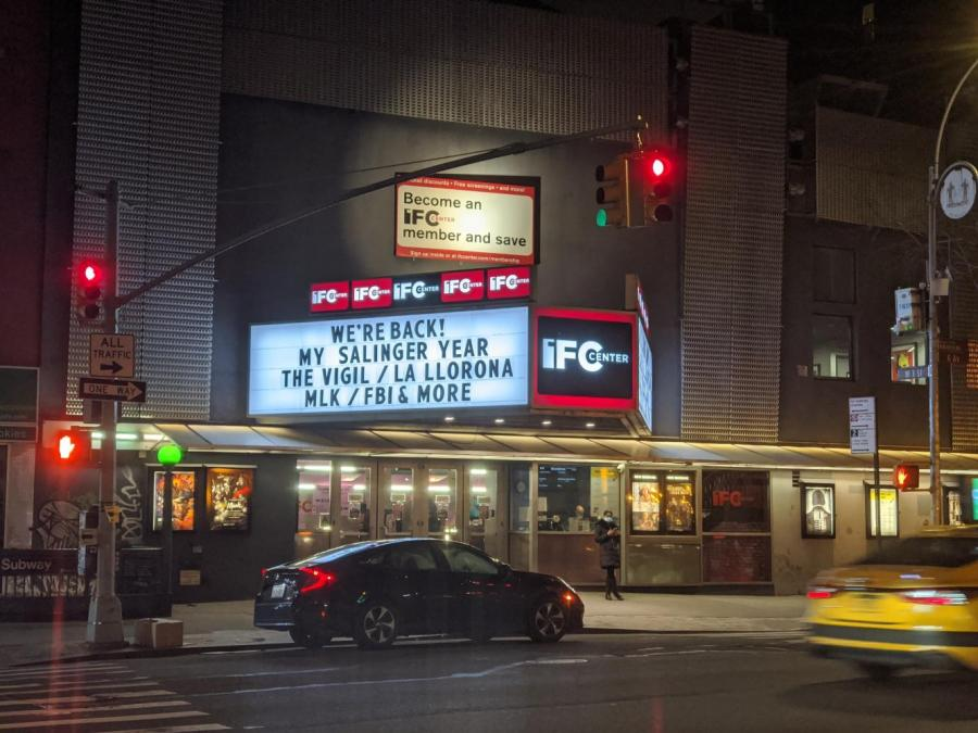 Theaters like the Independent Film Center (IFC), located on 323 6th Avenue, have placed multiple safety measures to allow New Yorkers to experience film culture again. The precautions set to ensure their customers are safe result in lower ticket sales for independent theaters. (Photo by Kaylah Haye)