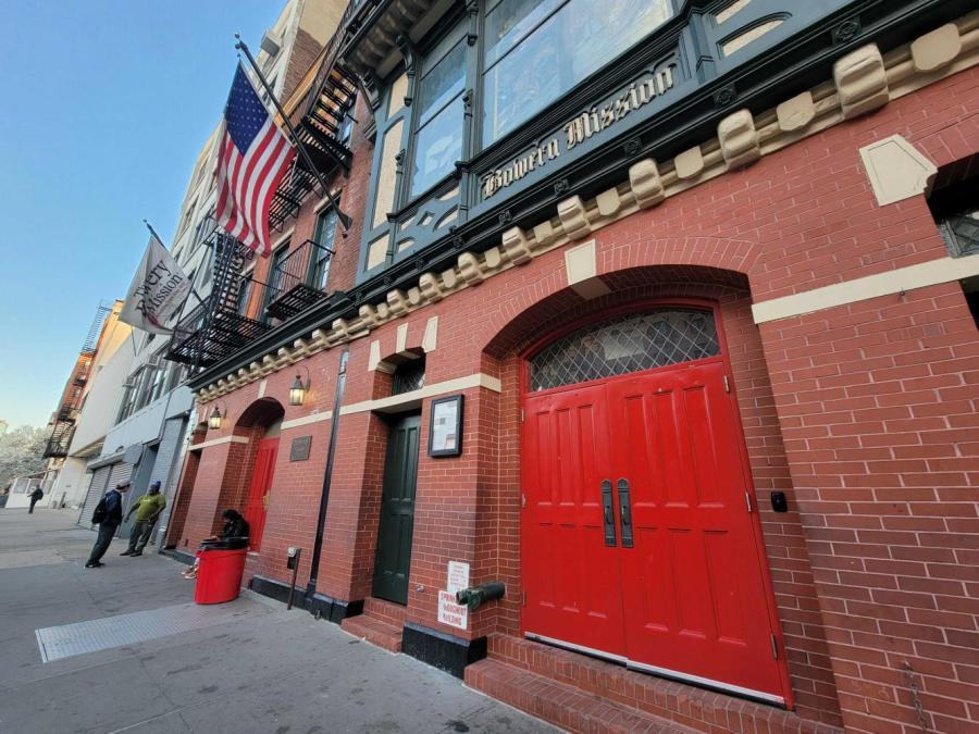 The Bowery Mission is located at 227 Bowery St. This is one of the city's largest homeless shelters and food pantries. (Staff Photo by Paul Kim)