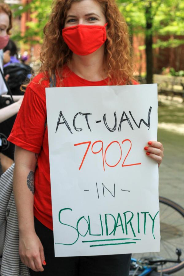ACT-UAW 7902 shows solidarity with GSOC.