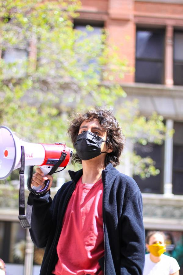 YDSA member outlines the demands of the tuition strike.