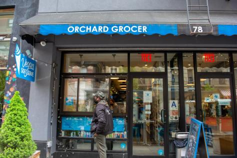 Orchard Grocer, located at 78 Orchard St, is an all-vegan deli and grocer. They offer vegan sandwiches, soft-serve ice cream, and groceries for vegans and non-vegans alike. (Staff Photo by Manasa Gudavalli)