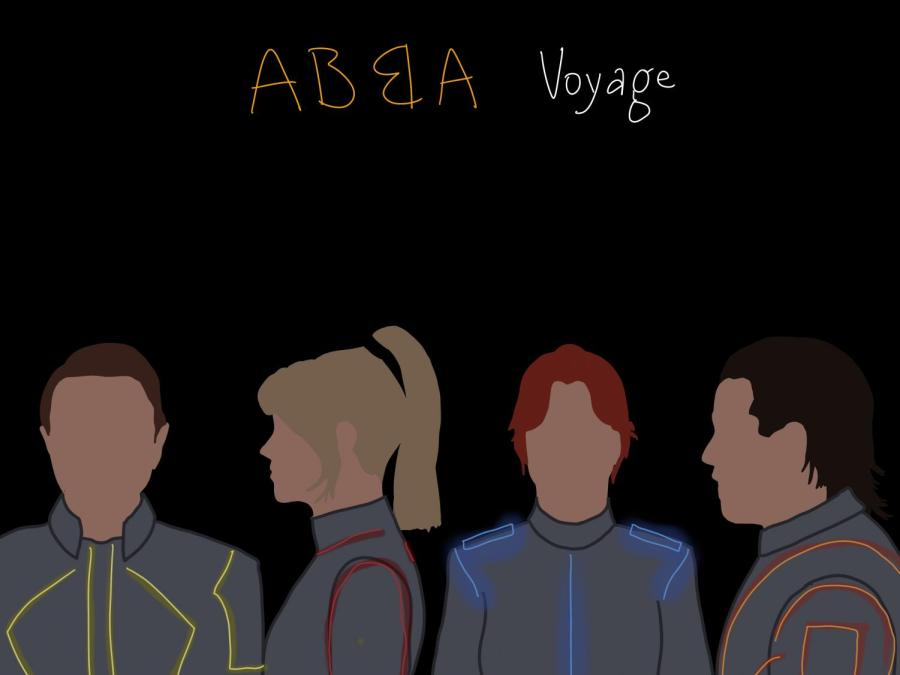"""Abba's upcoming album """"Voyage"""" is scheduled for release on November 5th. This would be Abba's first release after nearly forty years. (Staff Illustration by Manasa Gudavalli)"""