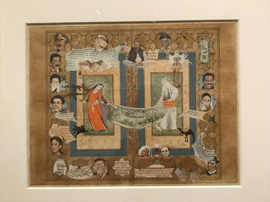 Persian artist Shahzia Sikander's work is on display at the Morgan Library. The exhibition will be available to view until September 26. (Photo by Alexandra Christina Bentzien)