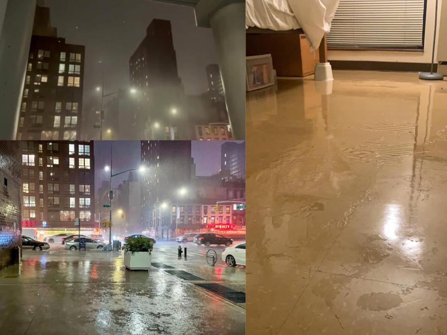 On September 1, a flash flood emergency was declared for New York City from the heavy rains from the remnants of Hurricane Ida. Many NYU commuter students had trouble finding their way back home and to class while relying on public transit. (Staff Photos by Shaina Ahmed and Rachel Cohen)