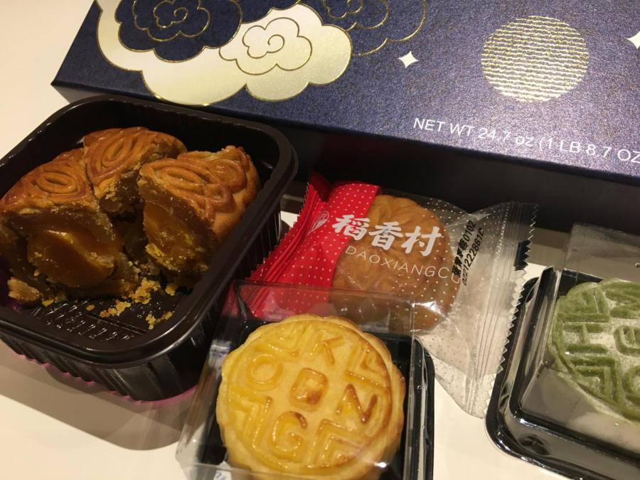 Mooncakes are a dessert that are eaten in some countries to celebrate the Mid-Autumn festival. The festival, which begins tomorrow, is an important holiday in Asian cultures that honors unity and family. (Staff Photo by Alexandra Chan)