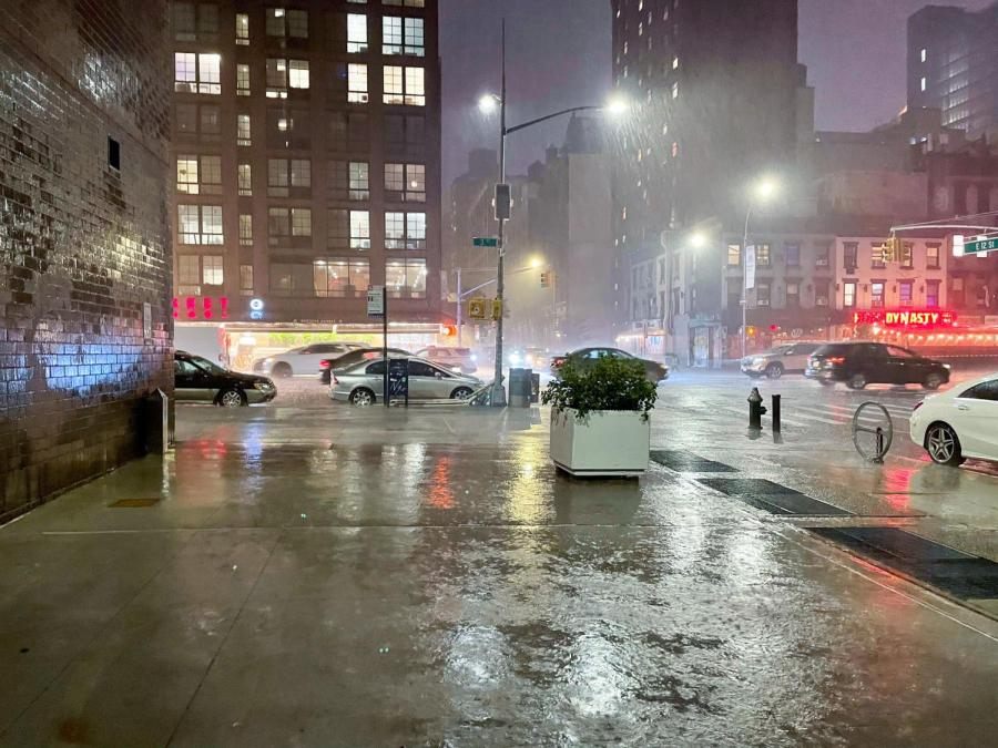 On September 1, a flash flood emergency was declared for New York City from the heavy rains from the remnants of Hurricane Ida. Many NYU students reported flooding in Lower Manhattan residence halls. (Staff Photo by Shaina Ahmed)