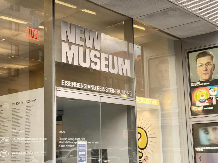 The New Museum of Contemporary Art is located at 235 Bowery. It is one of the participating organizations of NYU's Museum Gateway program. (Staff Photo by Sirui Wu)