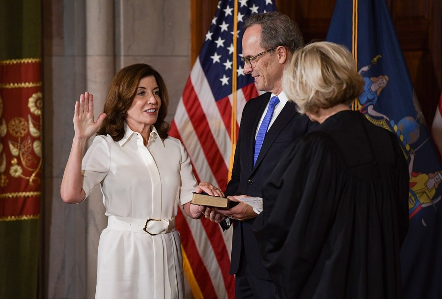 On August 24, Kathy Hochul was sworn in as New York's first female governor after the resignation of Andrew Cuomo due to sexual harassment reports. Her governorship is historic for women in New York state politics. (Image via Wikimedia Commons)