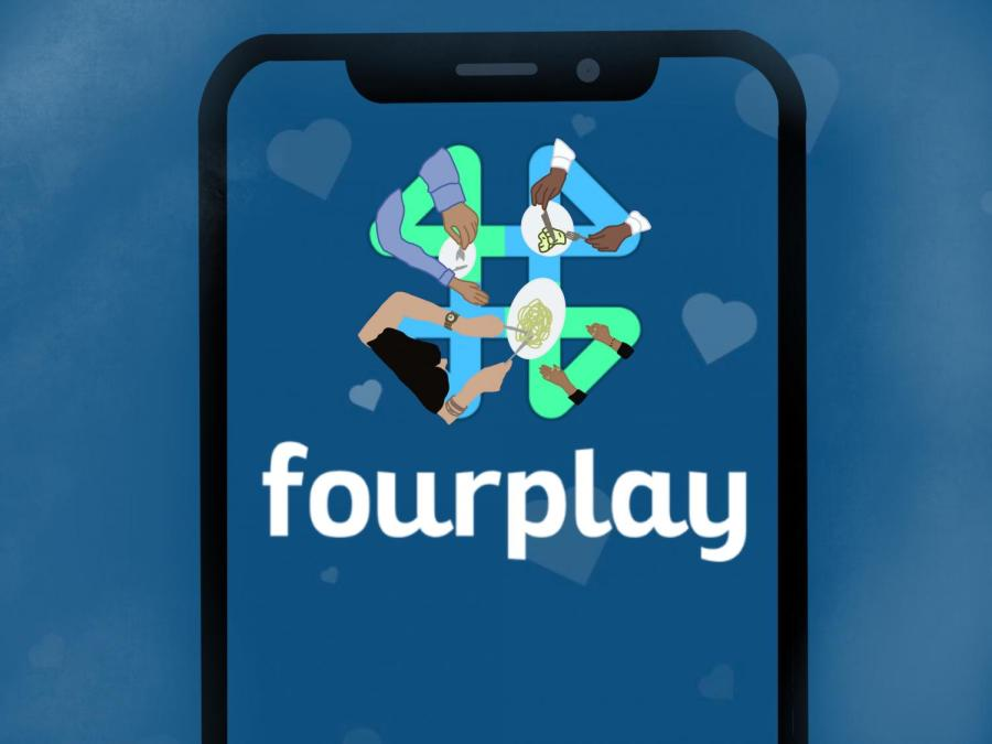 Fourplay is a new dating app designed to match duos on double dates. The app's group focus changes the dynamic of dates. (Staff Illustration by Manasa Gudavalli)