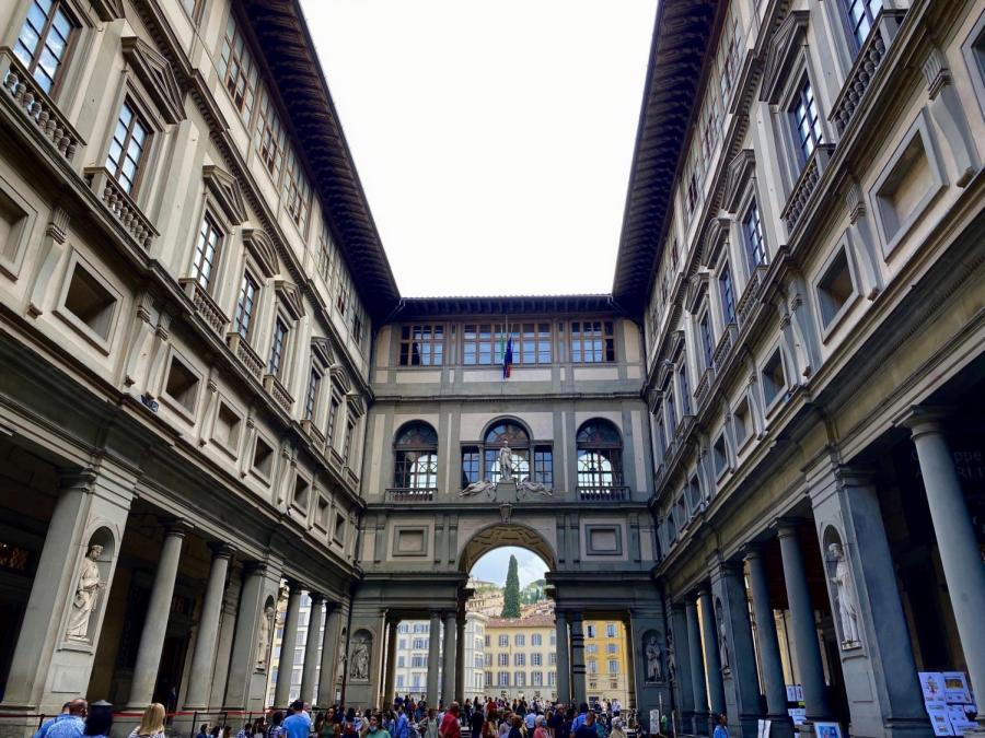 The Uffizi Gallery in Florence lost an estimated 10 million euros when it was forced to shut down during the COVID-19 pandemic. In May of 2021, Uffizi announced that they would be creating NFTs of some of their famous works to recover from the losses suffered during the pandemic. (Photo by Annie Hosch)