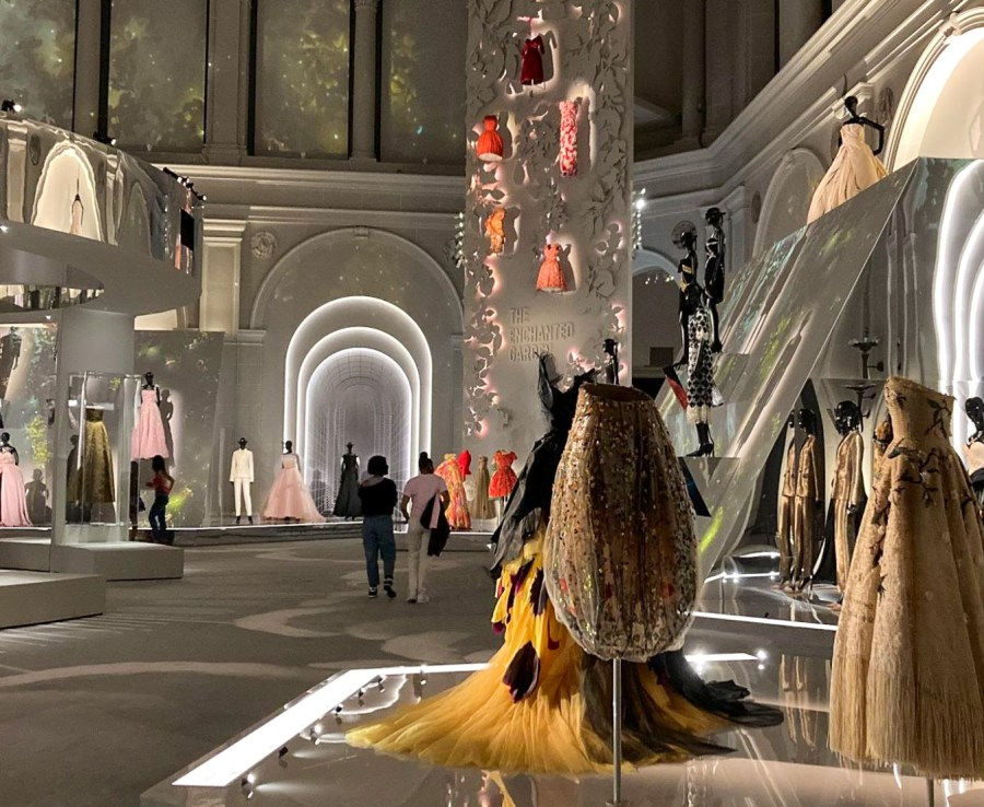 """The Brooklyn Museum's newest exhibit """"Christian Dior: Designer of Dreams,"""" opened on Sept. 10. The current collections preserve the essence of Dior by balancing history with modernity. (Photo by Vivian Stockley)"""