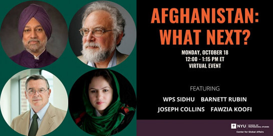 NYU invited Fawzia Koofi, the leader of the Movement of Change for Afghanistan Party, and U.S. Deputy Assistant Secretary of Defense Joseph Collins to an event to discuss the U.S. withdrawal from Afghanistan. Collins and Koofi discussed the factors that led up to the collapse of the Afghan government. (Image via nyu.edu)