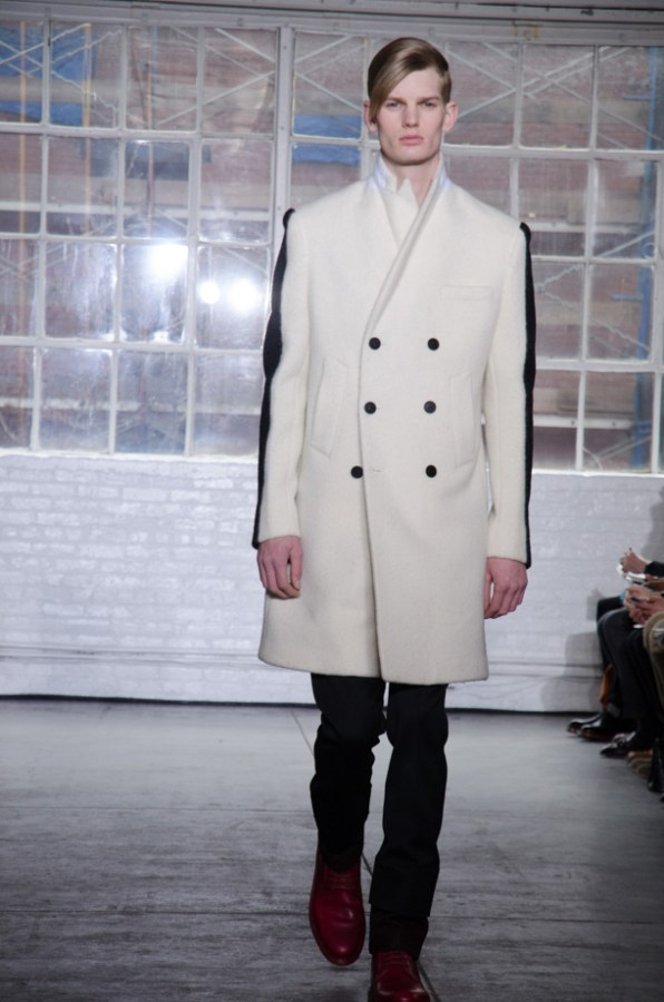 Duckie%E2%80%99s+Brown+previous+two+collections+focused+on+the+somber%2C+but+for+Fall%2FWinter+2013%2C+designers+Steven+Cox+and+Daniel+Silver+took+a+step+in+the+brighter+direction.