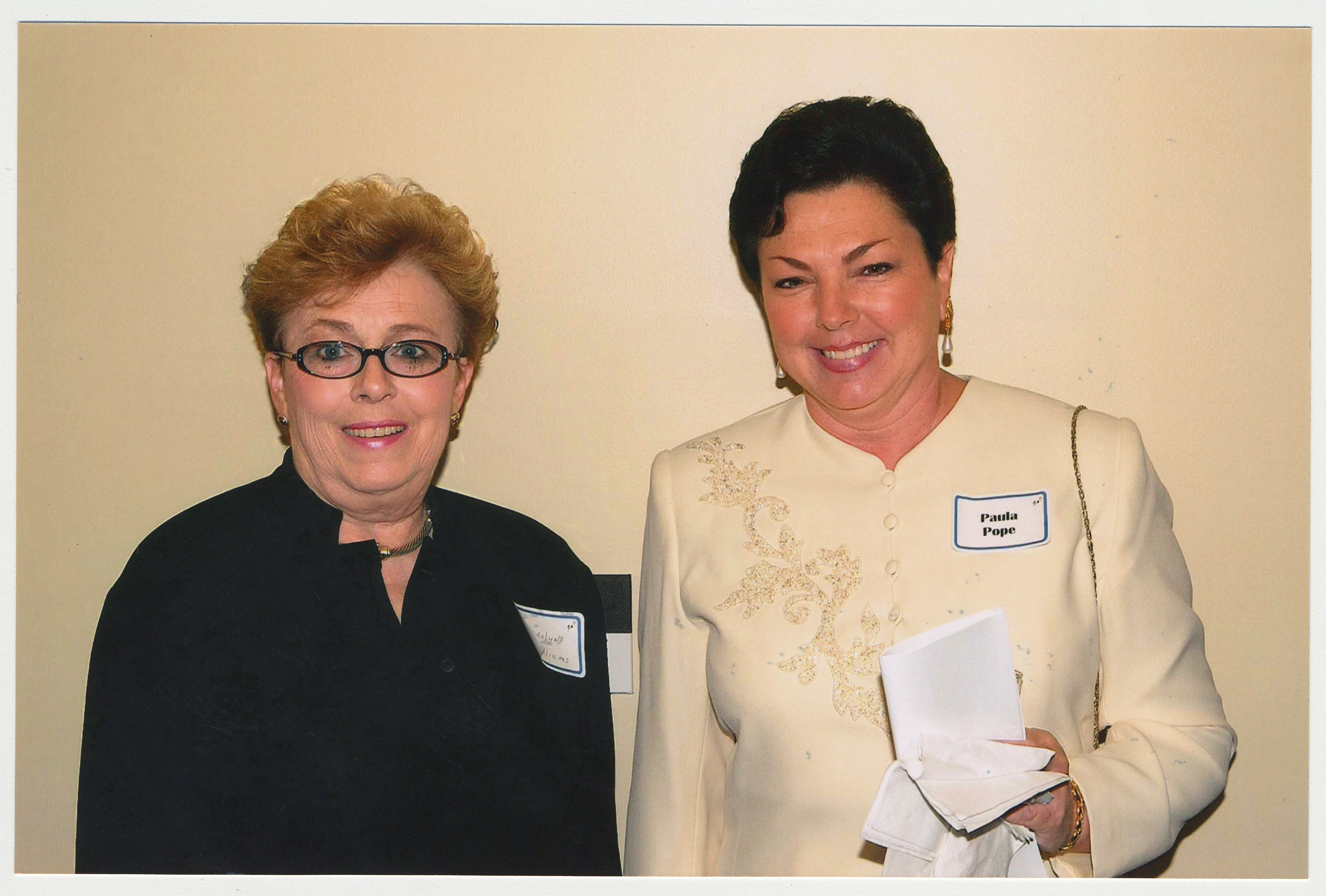 Carolyn Williams Dean Of Nursing And Paula Pope Central Development Are At A Ceremony For