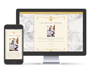 Paperless Wedding Website Elegant Marble Template