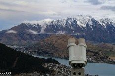 Tower viewer perspective of the Remarkables and Deer Park Heights