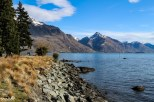 The view of Walter Peak and Lake Wakatipu from the Queenstown Gardens peninsula.