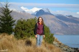 Jessica stopping on our stroll around the Queenstown Gardens to enjoy the panaramic views.