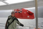 Me by the NZ naval flag