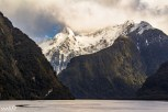 Majestic peaks with a dappling of sunlight in Doubtful Sound