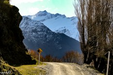 The Wanaka-Mt Aspiring Road keeps going on toward the Rob Roy Glacier.