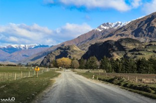 It's hard to tell from this photo, perhaps, but this part of the Wanaka-Mt Aspiring Road was full of potholes.