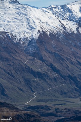 William zoomed in on the zig-zagging road that leads up to and down from Treble Cone ski area.